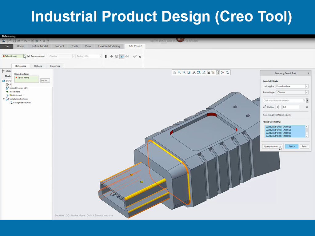 Industrial Product Design (Creo Tool)