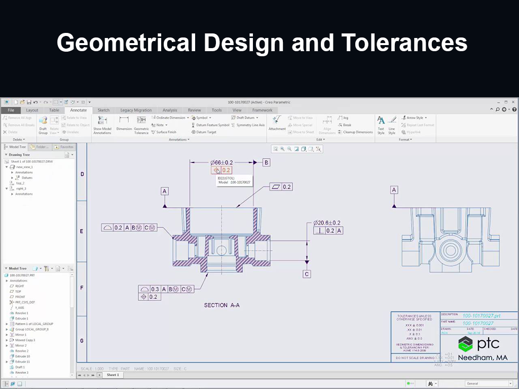 Geometrical Design and Tolerances