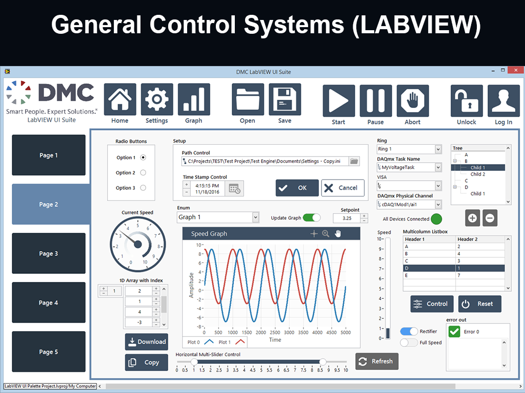 General Control Systems (LABVIEW)