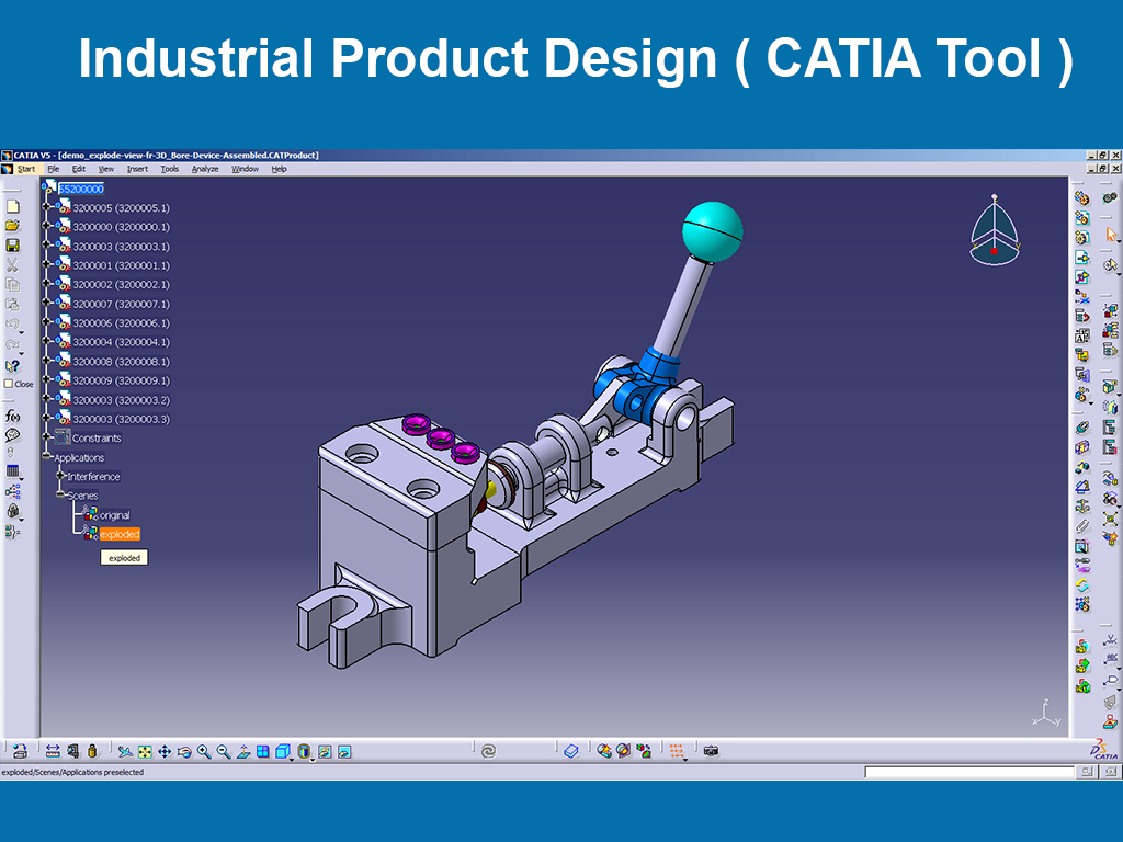 Industrial Product Design ( CATIA Tool )